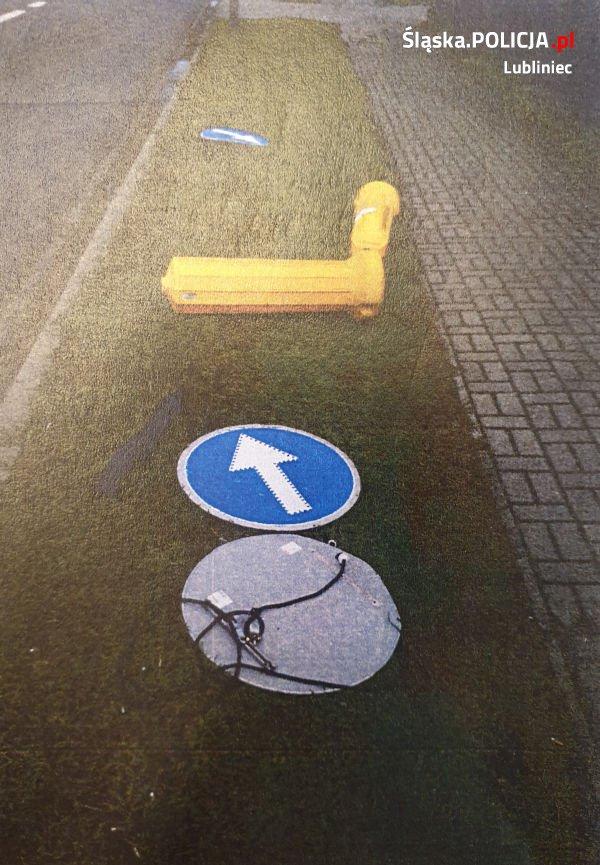 Zniszczono znaki drogowe 1