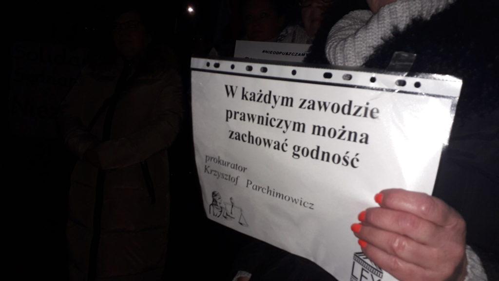 Protestowali w obronie wolnych sądów 5