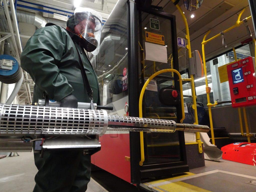 MPK dezynfekuje autobusy i tramwaje 1
