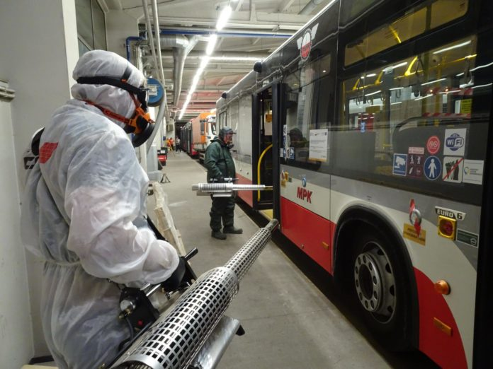 MPK dezynfekuje autobusy i tramwaje 4