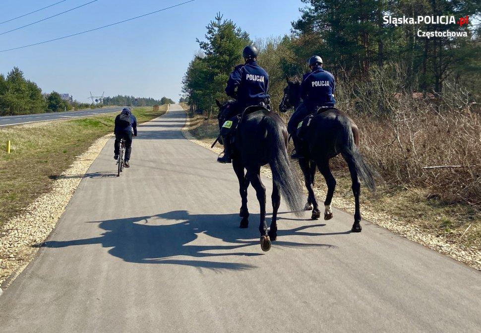 Mieszkańcy Częstochowy mieli okazję być świadkami mało spotykanego konnego pościgu. 1