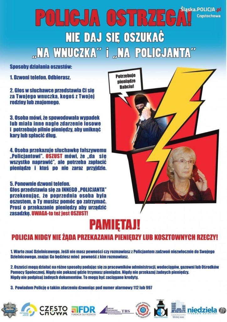 """Częstochowska kampania """"Bezpieczny Senior"""" 1"""