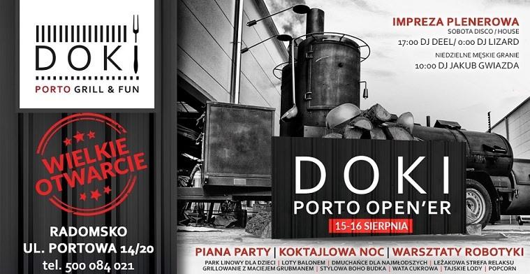 """Wielkie otwarcie """"Doki- Porto grill & fun""""  w Radomsku 1"""