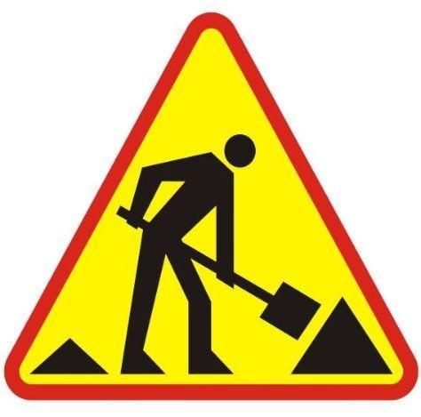 znak robót drogowych
