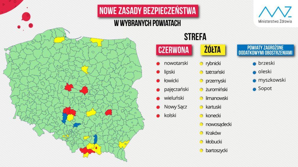 Powiat Kłobucki w żółtej strefie koronawirusa. Powiat myszkowski zagrożony! 1