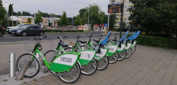 Stacja rowerów miejskich przy Promenadzie im. Niemena