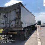 Kolizja dwóch ciężarówek na A1, miejscowość Starcza. 3