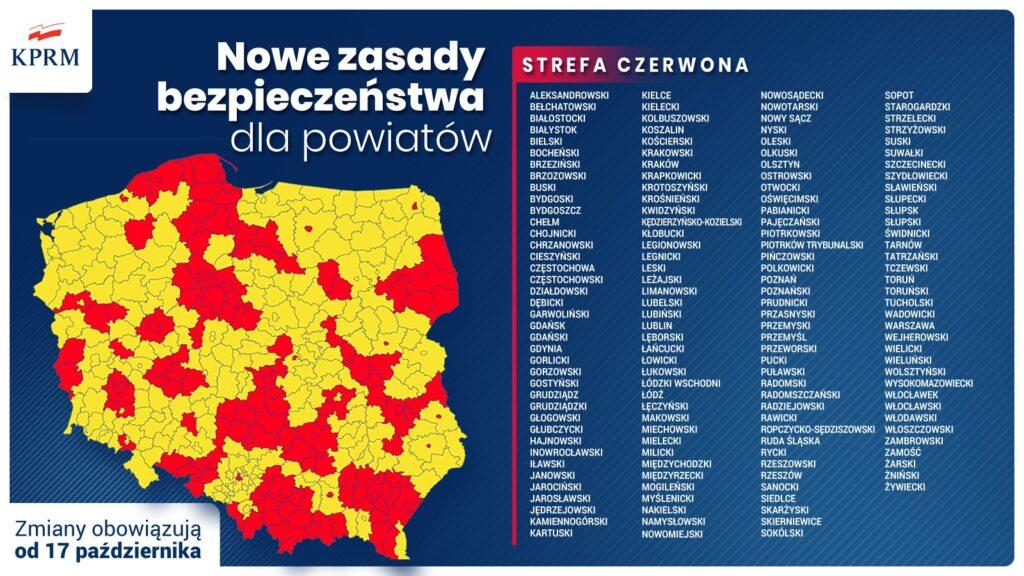 Od soboty Częstochowa i powiaty: częstochowski i kłobucki w czerwonej strefie. Rząd ogłosił mały lockdown 1