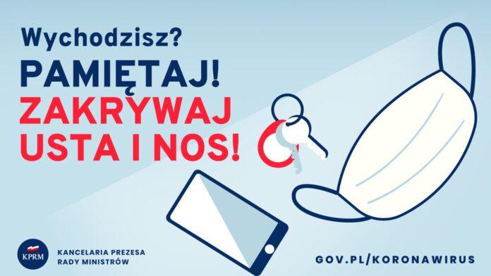Od soboty cała Polska jest strefą żółtą. W walce z koronowirusem ma pomóc obowiązek noszenia maseczek w całej przestrzeni publicznej 5