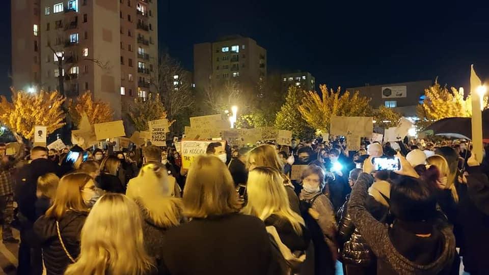 Mieszkańcy Myszkowa wyszli wczoraj na ulice 1