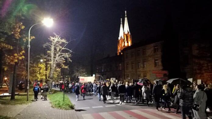 Mieszkańcy Myszkowa wyszli wczoraj na ulice 3