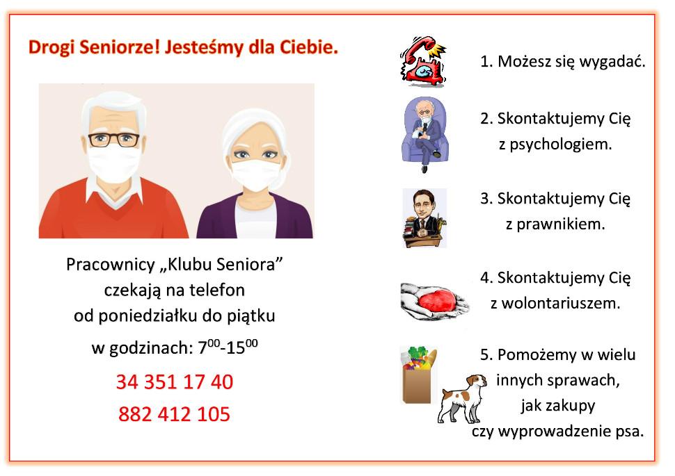 """""""Usługa – pomoc telefoniczna"""" dla seniorów z Lublińca 1"""