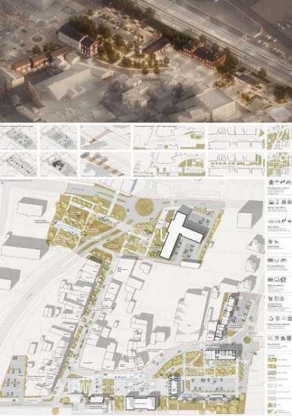 Firma architektoniczna z Warszawy zaprojektowała rewitalizację centrum Myszkowa 1
