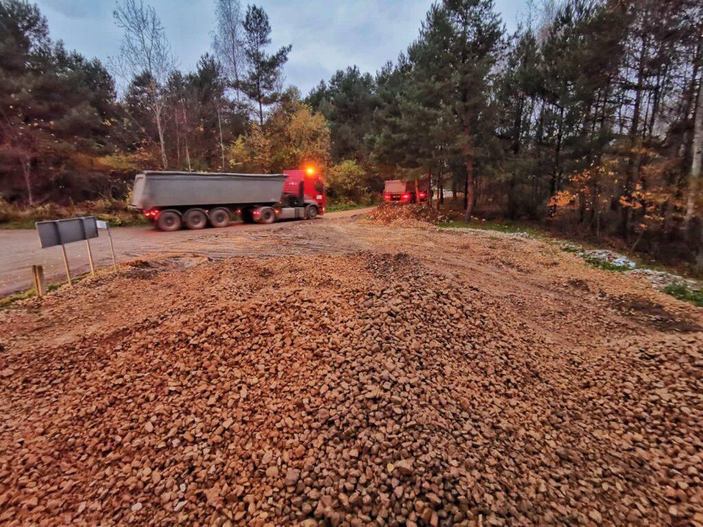 Na drogach lokalnych Gminy Olsztyn rozpoczęły się roboty budowlane 2