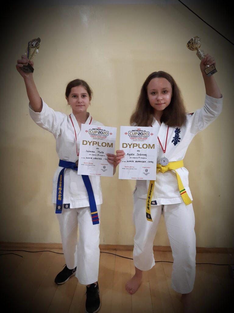 Zawodniczki Klubu Karate Randori z Radomska ze srebrnym i brązowym medalem 1