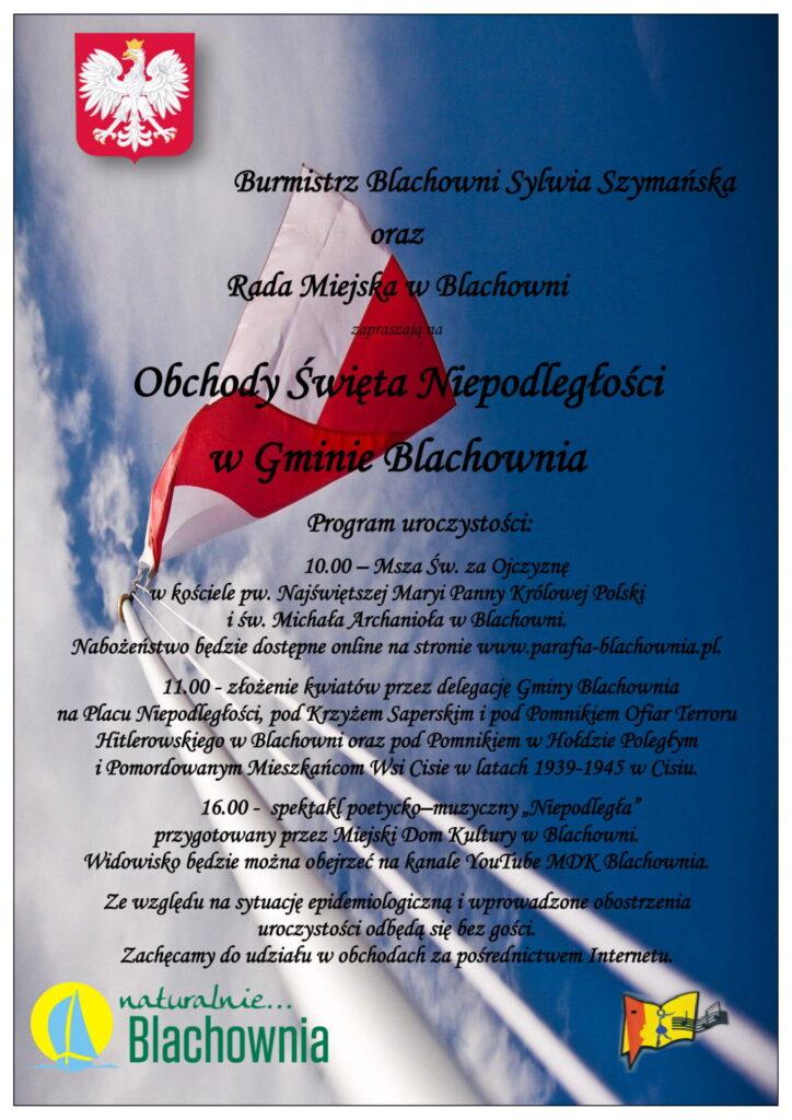 Blachownia zachęca do wspólnego uczczenia Narodowego Święta Niepodległości 1