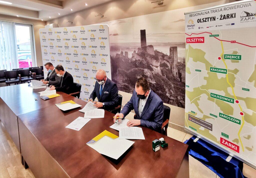 Umowy z wykonawcami trasy rowerowej Olsztyn – Żarki podpisane 1