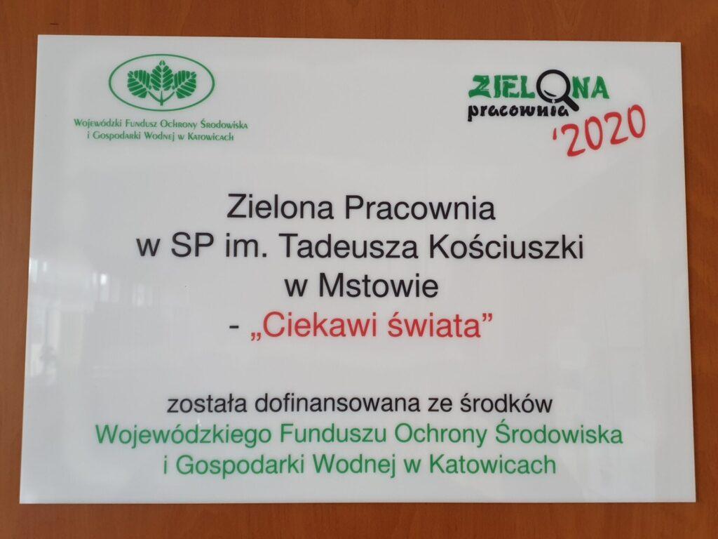 """""""Ciekawi świata"""" - pracownia biologiczno-geograficzna w SP w Mstowie 1"""