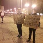 Częstochowianie przy muzyce Kultu protestowali na placu Biegańskiego 4