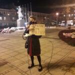 Częstochowianie przy muzyce Kultu protestowali na placu Biegańskiego 13