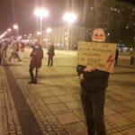 Częstochowianie przy muzyce Kultu protestowali na placu Biegańskiego 16