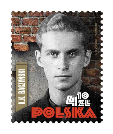 Poczta Polska wypuściła znaczek upamiętniający Krzysztofa Kamila Baczyńskiego. Wprowadzono go do obiegu dzisiaj, w 100. rocznicę urodzin poety 3
