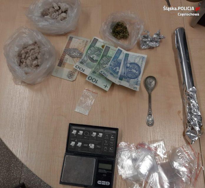 Częstochowska policja zatrzymała 4 dilerów narkotyków 4
