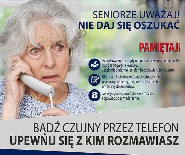 Oszuści nie odpuszczają. Seniorze, uważaj – apeluje częstochowska policja 2