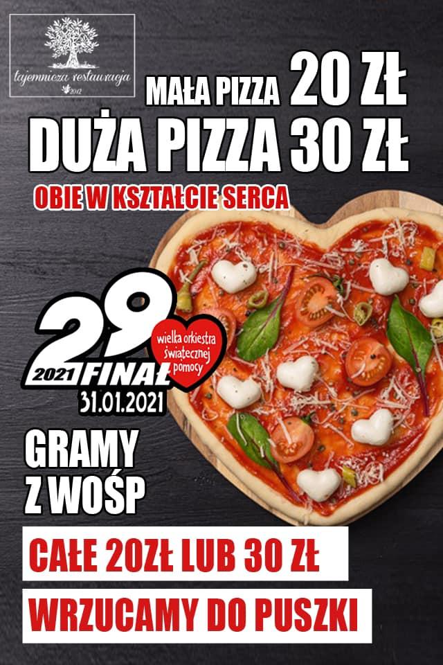 Tajemnicza Restauracja w Częstochowie gra z WOŚP i robi pizzę w kształcie serca 2