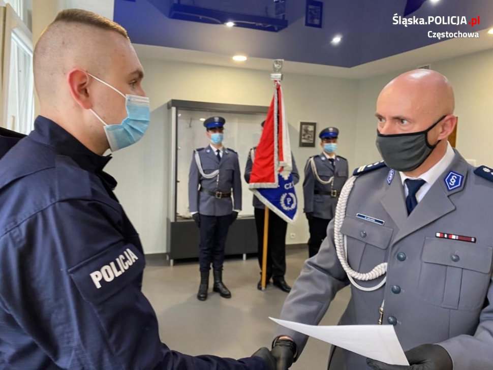 Trzech nowych funkcjonariuszy w częstochowskiej policji 4