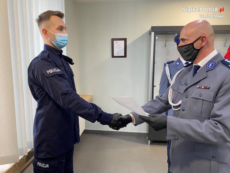 Trzech nowych funkcjonariuszy w częstochowskiej policji 2