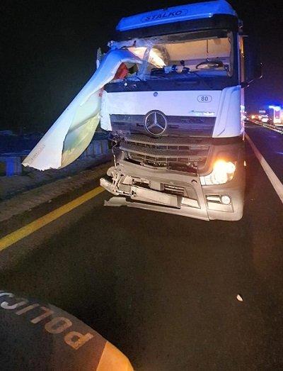 Śmiertelny wypadek na A1 w Radomsku 1