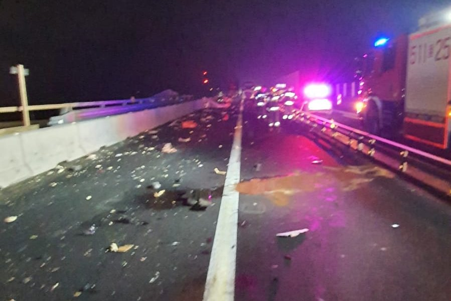 Śmiertelny wypadek na A1 w Radomsku 2