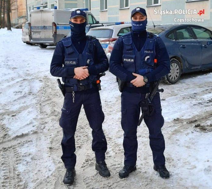 Częstochowscy policjanci uratowali mężczyznę, który targnął się na swoje życie 2