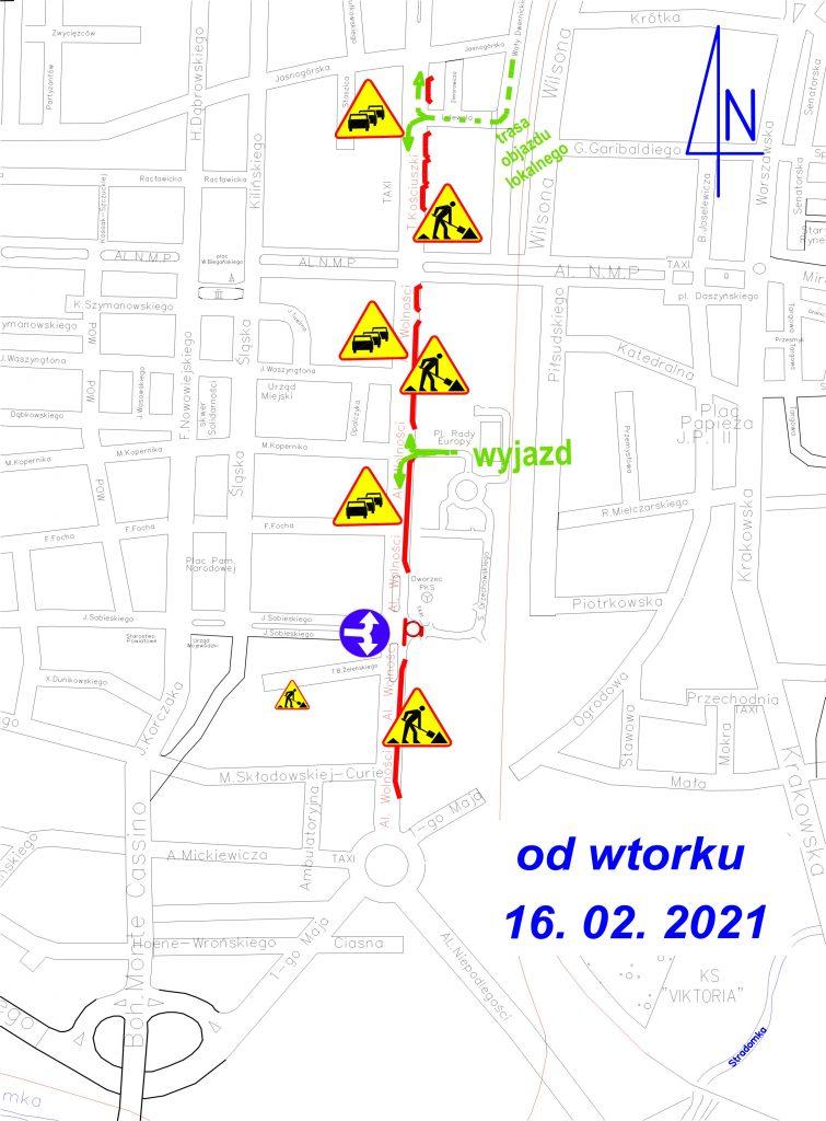 Jutro rozpoczną się roboty na kolejnym skrzyżowaniu w Śródmieściu Częstochowy 11