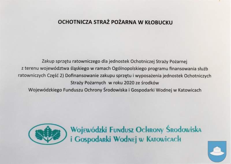 Strażacy z OSP Kłobuck i OSP Łobodno otrzymali nowy sprzęt 15