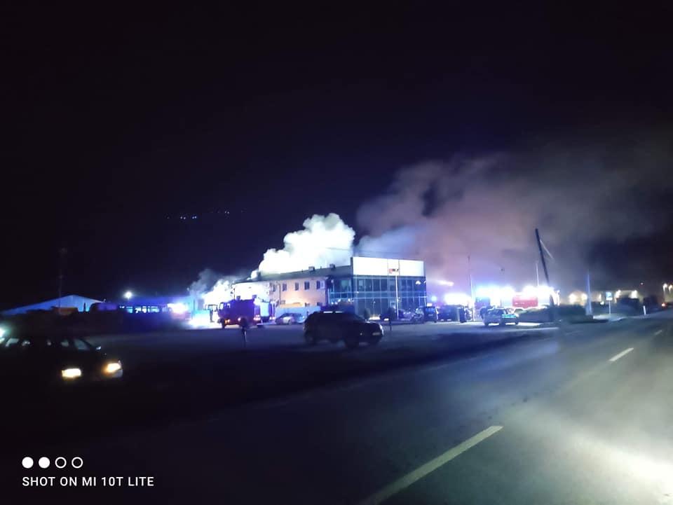 Pożar w Boronowie. Ogień gasiło 50 strażaków 2