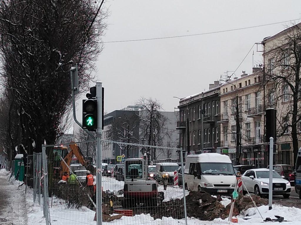 Zima nie zatrzymała remontu torów w Śródmieściu Częstochowy 4