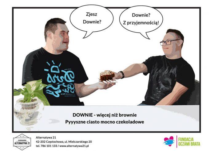 Downie. Klubokawiarnia Alternatywa 21 wprowadza w Częstochowie ciasto z przekazem 3