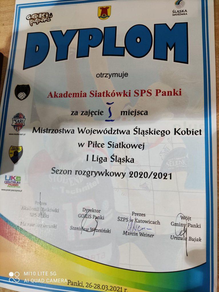 Siatkarki Akademii Siatkówki SPS Panki wygrały i 1 śląską i mają szansę na awans 3