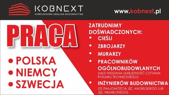 Pracownicy budowlani pilnie poszukiwani - częstochowska Firma Kobnext zatrudni od zaraz 3