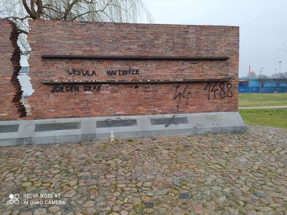 Nazistowskie napisy na Pomniku Ofiar Getta w Częstochowie. Sprawą zajmie się policja 1