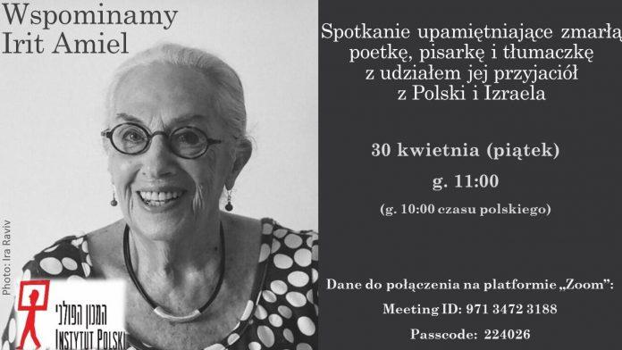 Spotkanie ku pamięci Irit Amiel. Poetkę wspominać będą przyjaciele z Polski i Izraela 3