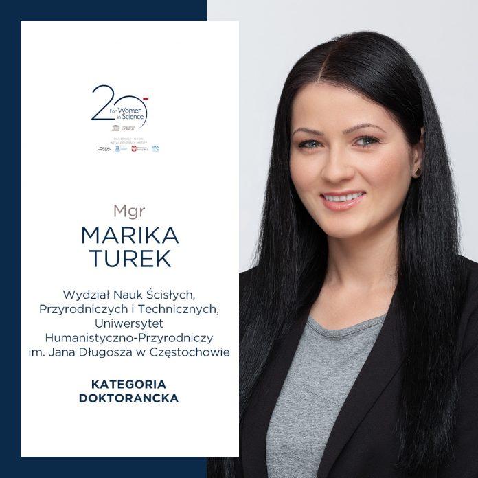 Doktorantka z Częstochowy Marika Turek doceniona w programie L'Oréal-UNESCO 2
