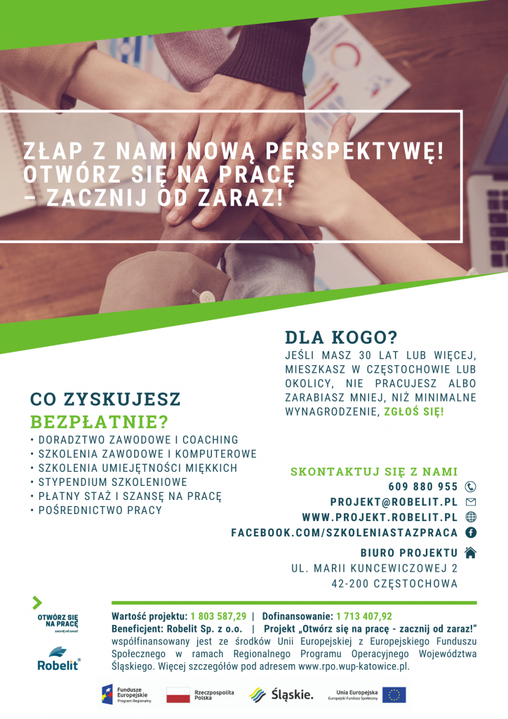 W Częstochowie i regionie rusza projekt, który ma pomóc osobom 30+ w znalezieniu pracy 1