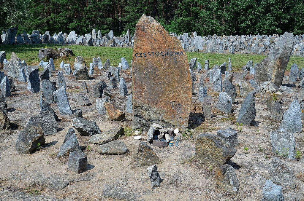 Treblinka kamień upamiętniający Żydów z Częstochowy