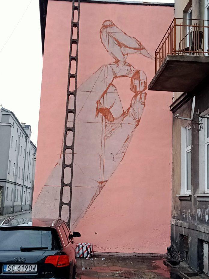 Widzieliście mural, który powstaje na ul. Mielczarskiego w Częstochowie? 2