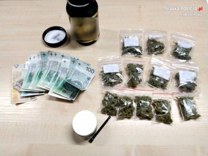 Narkotyki warte 40 tysięcy złotych nie trafią na rynek – informuje częstochowska policja 5