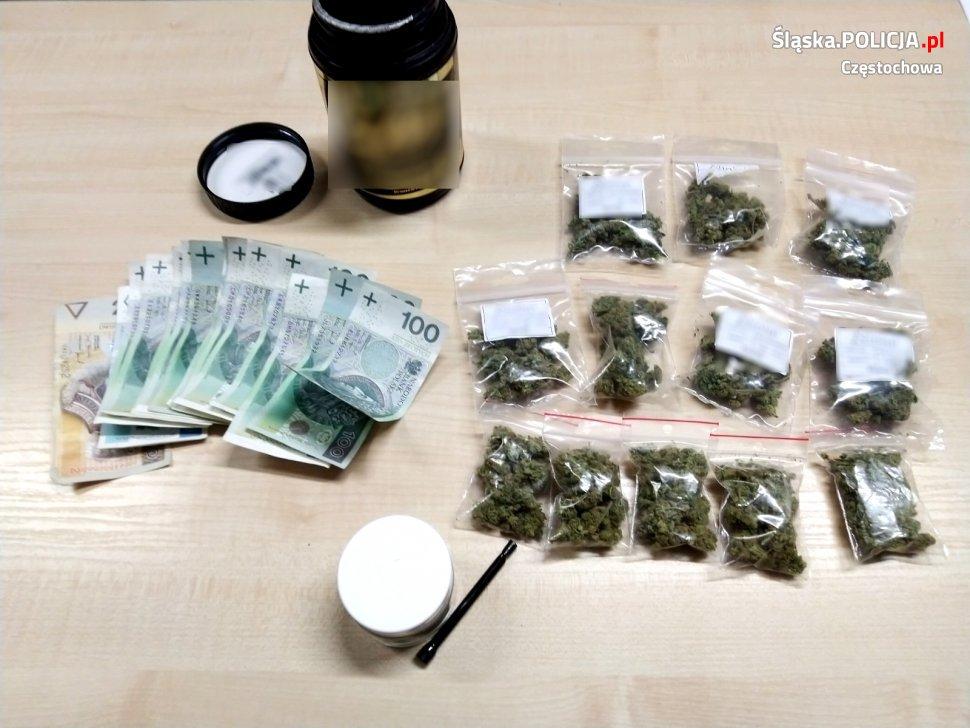 Narkotyki warte 40 tysięcy złotych nie trafią na rynek – informuje częstochowska policja 1