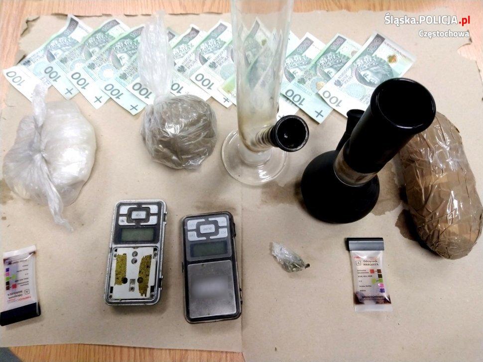 Narkotyki warte 40 tysięcy złotych nie trafią na rynek – informuje częstochowska policja 3